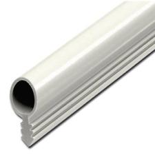Röhrchendichtung, Dichtungsprofil mit Steg Ø 6 mm, Schwarz, Weiß