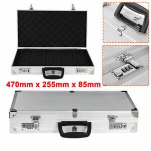 470x255mm Hard Aluminium Flight Carry Case Foam Tool Camera Storage Box Lockable