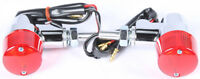 K S TURN SIGNAL STYLE 3 CHROME W/RED LENS 25-8625
