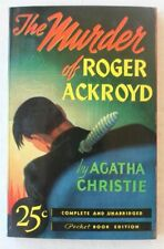 THE MURDER OF ROGER ACKROYD by AGATHA CHRISTIE POCKET #5 FINE UNREAD WHITE PAGES