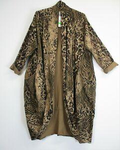 New Lagenlook Ladies/Womens 95% Cotton Oversized Long Cardigan /Coat Pockets