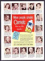 1951 John Wayne Robert Merrill Etc. photo Camel Cigarettes vintage print ad