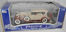 Anson 1/18 Prestige Edition 1932 Cadillac Sport Phaeton BEIGE White/Brown NEW 32