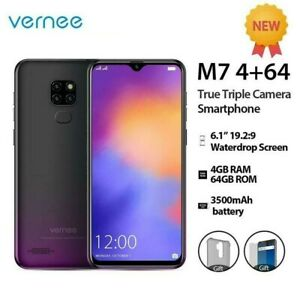 Vernee M7 Waterdrop 4GB 64GB 3 Camera Android Face ID LTE Unlocked smartphone 4G