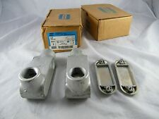 """LOT OF 4 ~  NEW ~  CROUSE-HINDS ~  1""""  FORM 7 CONDUIT OUTLET BODY ~  PART # L37"""