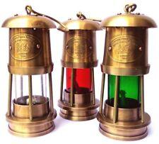 LOT OF 3 PCS Vintage Nautical Miner Oil Ship Lantern Maritime Ships Lamp Decor