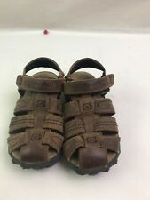 Stride Rite Boys 10 2 Leather Sandals Hudsen Brown Big Kid NEW Summer Shoes NWT