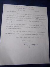 Henry Rayner letter (no photo)  - Autograph (GC5)