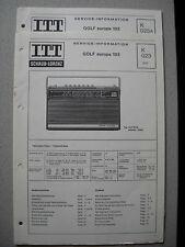 ITT/Schaub Lorenz Golf europa 103 Service Manual, K023, inkl. K023A Update