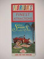 Florida travel BROCHURE 1950s Retro attractions GUIDE MAP