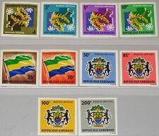 GABON GABUN 1968 Dienst 1-10 U Official O1-10 Map of Gabon Karte des Landes MNH