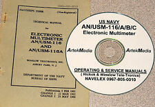 AN/USM-116 AN/USM-116A/B/C  Manual (Ops & Service)