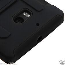 Nokia Lumia 929 Icon Hybrid C Armor Case w/Stand Skin Cover Black Black
