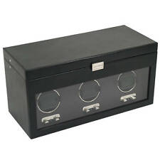 WOLF 2.1 Heritage Triple 3 Watch Winder Battery Powered Operated Run NEW