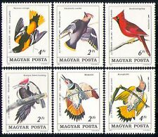 Hungary 1985 Woodpecker/Waxwing/Oriole/Birds/Nature/Audubon/Art  6v set (n29400)