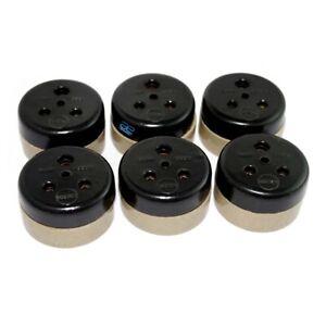 Vintage Bakelite Porcelain Ceramic Electric Plug Socket 6 Amp 240V x 6 Unit ECs