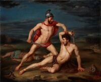 "oil painting handpainted on canvas ""Achilles Defeating Hector """