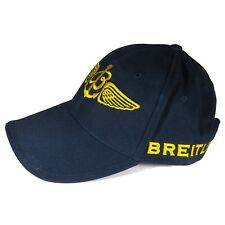 Breitling Luxury Navy Blue And Yellow Cap Hat Very Rare 2017