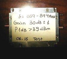 RF Power Amplifier f=830-969MHz,P1dB>38dBm    9-10W     SALE