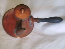 Chocolatière ancienne en cuivre à restaurer avec manche en bois