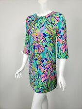 LILLY PULITZER Carol Shift Hot Spot Print Silky Mini Dress sz 00 $198