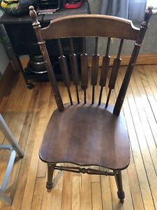 Tell City Cattail Cat Tail Dining SIDE Chair Andover Maple Wood #49 Rumford 9034