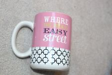 TRS The Royal Standard Ceramic Coffee Mug Wher the Heck is Easy Street Pink