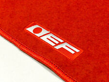 88-91 HONDA CIVIC CRX EF CUSTOM FIT FLOOR MATS NON SKID CARPET SET KIT 2 PC RED