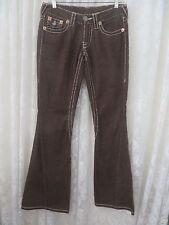 TRUE RELIGION JOEY BIG T  TWISTED LEG 27 x 32 Corduroy BROWN Jeans Pants
