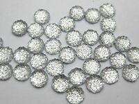 500 Clear Round Flatback Resin Dotted Rhinestone Gems 6mm