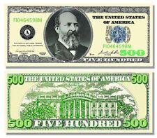 5 Factory Fresh Novelty Poker / Casino Night $500 Dollar Bills