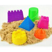 6 Pcs Castle Sand Mold Set Building Model Molding Beach Child Kids Toys ABS