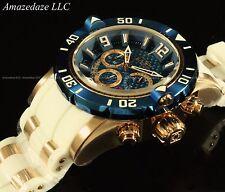 Invicta Men ProDiver Chronograph 18K GP Stainless St Blue Carbon Fibr Dial Watch