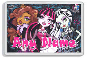Personalised Monster High Fridge Magnet - Add any name! *Great Gift!*