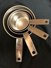 Vintage Foley Stainless Steel Measuring Cups - Set Of 4