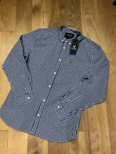 Brand new  Lyle & Scott slim fit gingham shirt  Regular fit  Navy   Medium