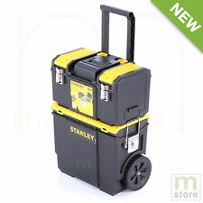 Portable Rolling Wheel Toolbox Cart Chest Tool Box Storage 3 Piece Stanley