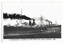 SS Donegal Ashore At The Point Of Ayre, Ramsey, c1908 Postcard.