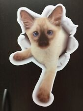 3D Cat Stickers 2 Pack Siamese Kitten Cat Decals for Wall Stickers