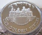 UK REALE COME NUOVO CON PROVA & BUnc Commemorative CORONE DOLLARI & POUND 1965
