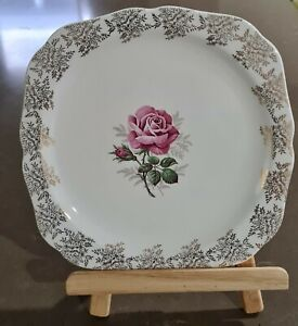 Lord Nelson Pottery  Gold Chinz Cake serving plate