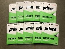 Lot Of 10 Prince Synthetic Gut With Duraflex Black Guage 17 1.25 MM 40ft 12.2 M