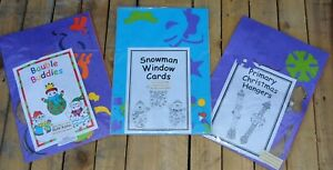 3 Childrens Christmas Craft Class Packs - Hangers / Baubles / Snowman Cards