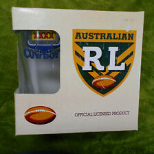 #FF.  NORTH QUEENSLAND  COWBOYS   RUGBY LEAGUE  ARL  BEER GLASSES