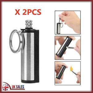 2 Match Stick Lighter Camping Fire Survival Permanent Metal Cigarette Flint Tool