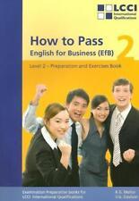 How to Pass - English for Business. LCCI Examination Preparation Books von Robert G. Mellor und Vicky G. Davison (2015, Taschenbuch)