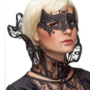 Spitzenkragen Vampir Lady Gothic Stehkragen schwarz Kragen böse Königin