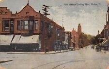 Moline Illinois~Fifth Avenue~Sundsvall Pharmacy~Footwear~1908 Postcard