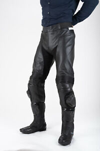 Tuff Gear Motorcycle Men Leather Pants Racer with CE approved Armours