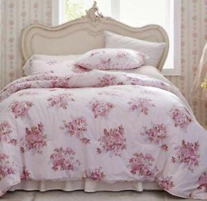 Simply Shabby Chic Twin Blush Bouquet Comforter Set Pink Rose Rachel Ashwell 2Pc
